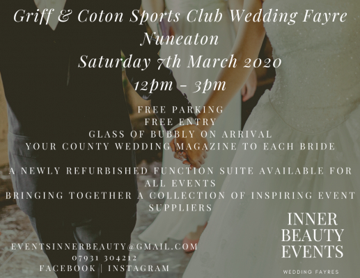 Inner Beauty Events - Wedding Fairs - Nuneaton - Warwickshire