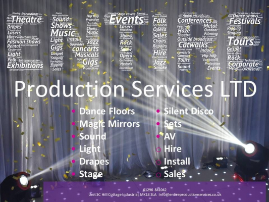 Entire Production Services LTD - Venue Decoration - Buckingham - Buckinghamshire