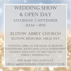 Beautiful Bedfordshire wedding show - Elstow Abbey Church