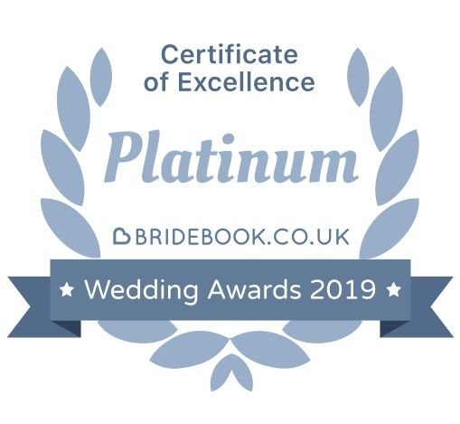 Platinum Certificate of Excellence from Bridebook