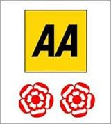 AA 2 rosettes for culinary excellence