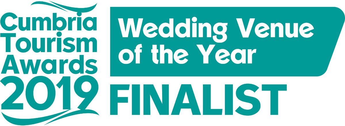 Finalist in the Cumbria Tourism Wedding Venue of the year awards 2019