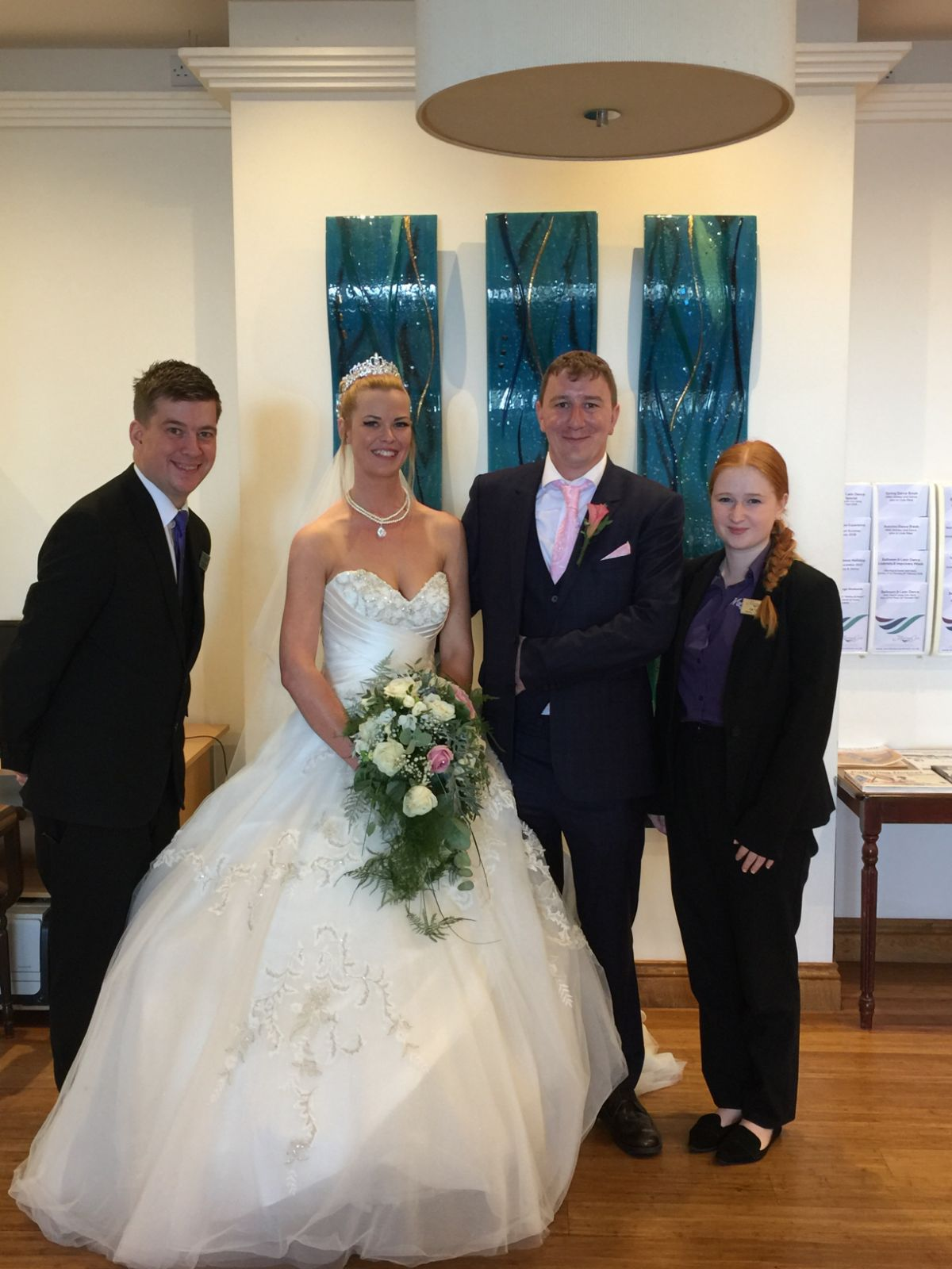 Andy, Operations Manager with Kat, Wedding Coordinator and the happy couple!
