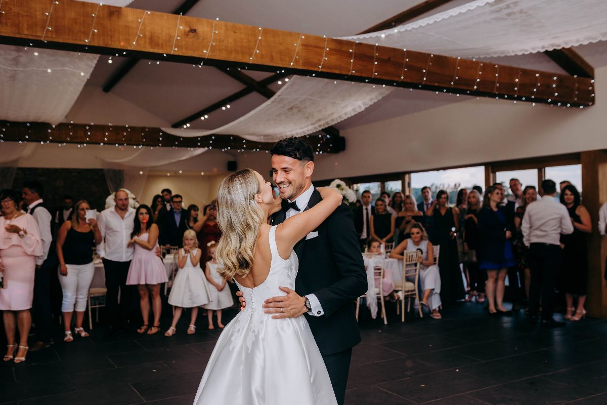 Your first dance in Quantock Barn at #QuantockLakes