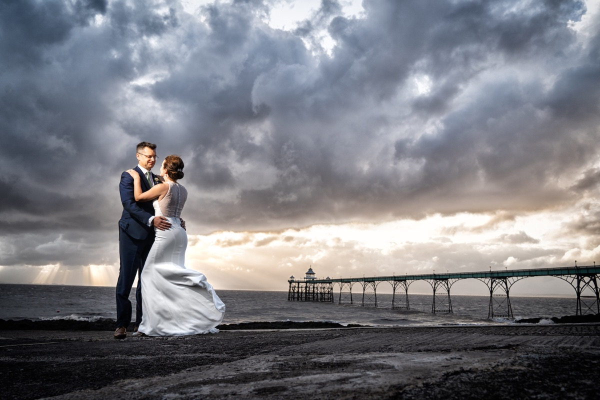 Windy Love By Clevedon Pier